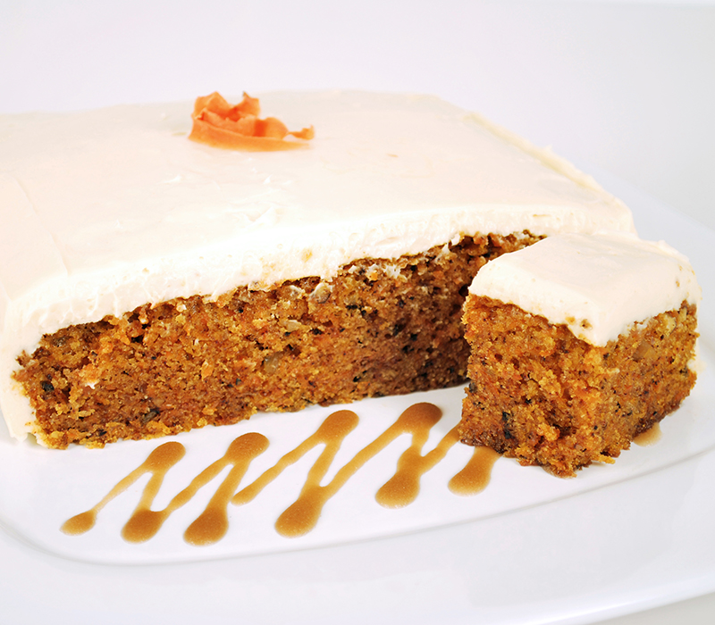 Carrot Cake with Maple Frosting