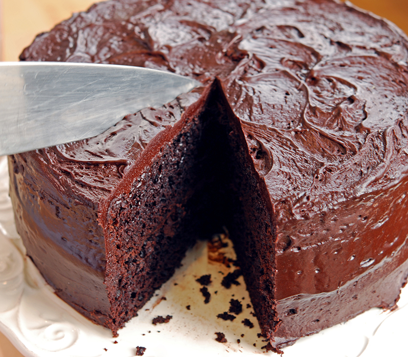 Dark And Delicious Chocolate Cake With Rich Chocolate Frosting