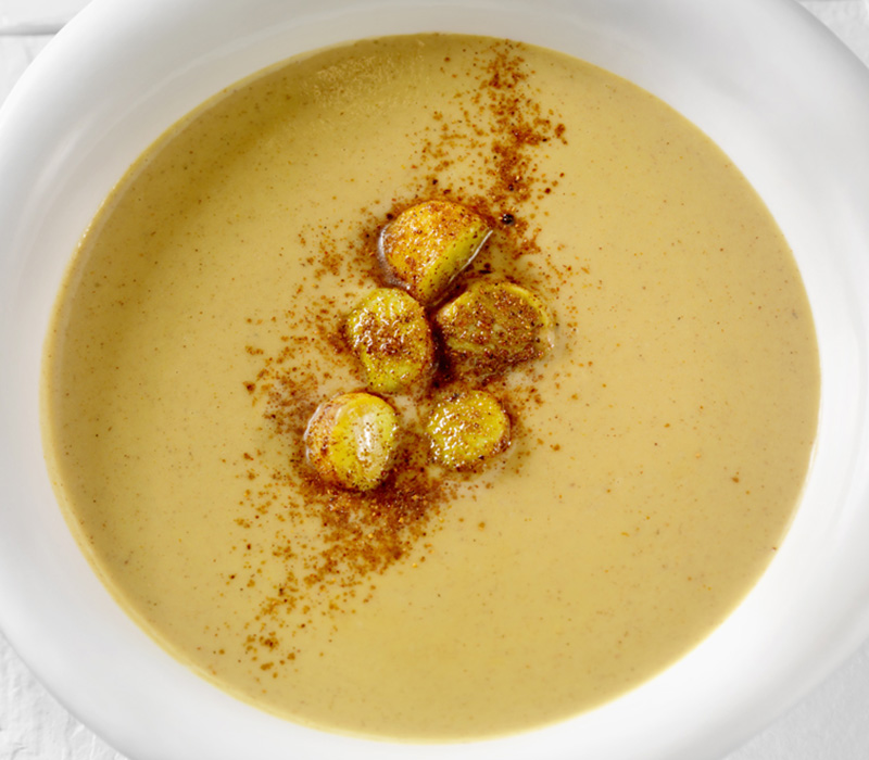 CHESTNUT SOUP WITH SPICED APPLES
