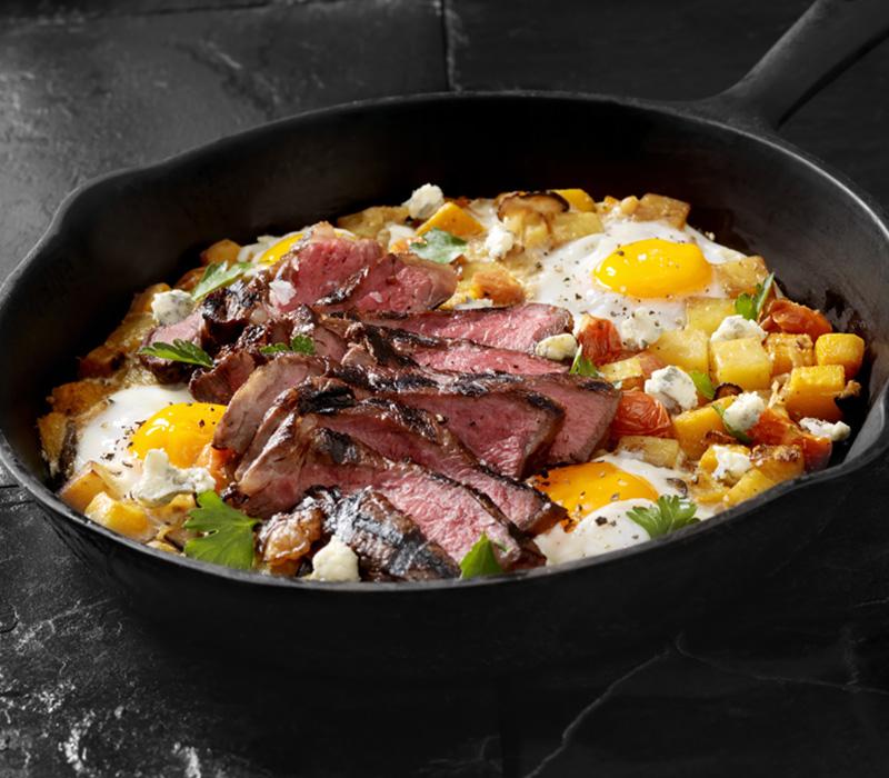 Steak And Eggs Breakfast Skillet