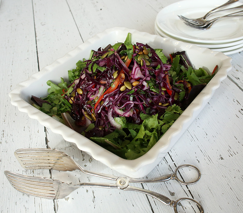 WINTER SALAD WITH CRANBERRY VINAIGRETTE